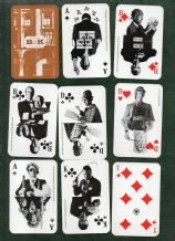 Advertising Non-standard playing cards courts. B & K Agency,